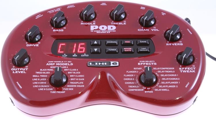 Line 6 POD 2 Desktop Guitar Modeling and FX Processor image 1