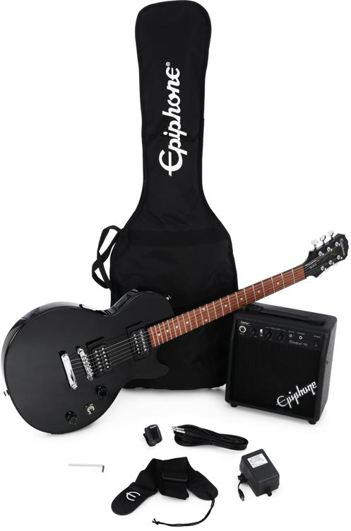 epiphone les paul player pack ebony sweetwater. Black Bedroom Furniture Sets. Home Design Ideas