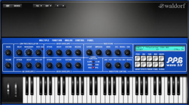Waldorf PPG Wave 3.V Synthesizer image 1