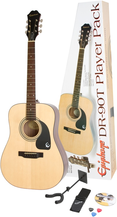 Epiphone DR-90T Acoustic Player Pack - Natural image 1