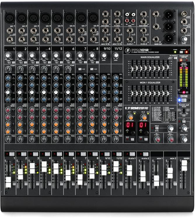 Mackie PPM1012 12-channel 1600W Powered Mixer image 1