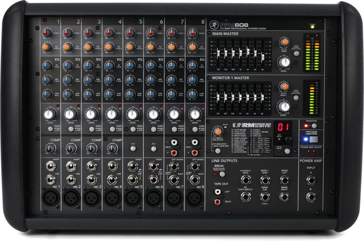 mackie ppm608 8 channel 1000w powered mixer sweetwater. Black Bedroom Furniture Sets. Home Design Ideas