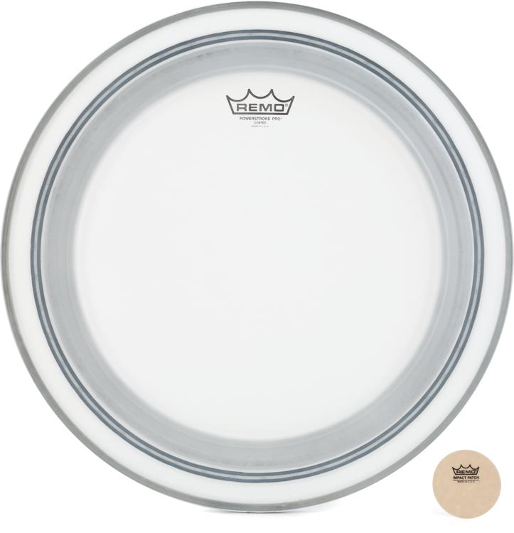 Remo Powerstroke Pro Coated Bass Drum Head - 18