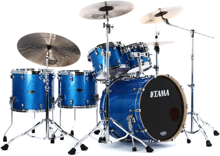 Tama Starclassic Performer B/B Shell Pack - 5-piece - Vintage Blue Sparkle image 1