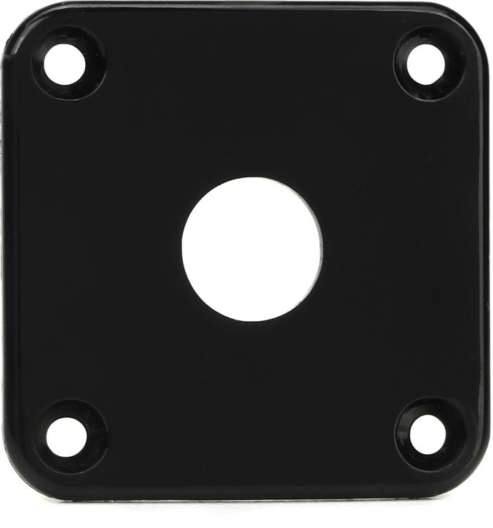 Gibson Accessories Jack Plate - Black Plastic image 1