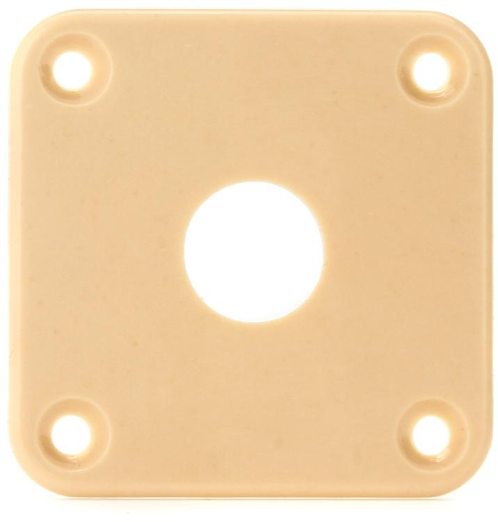 Gibson Accessories Jack Plate - Creme Plastic image 1