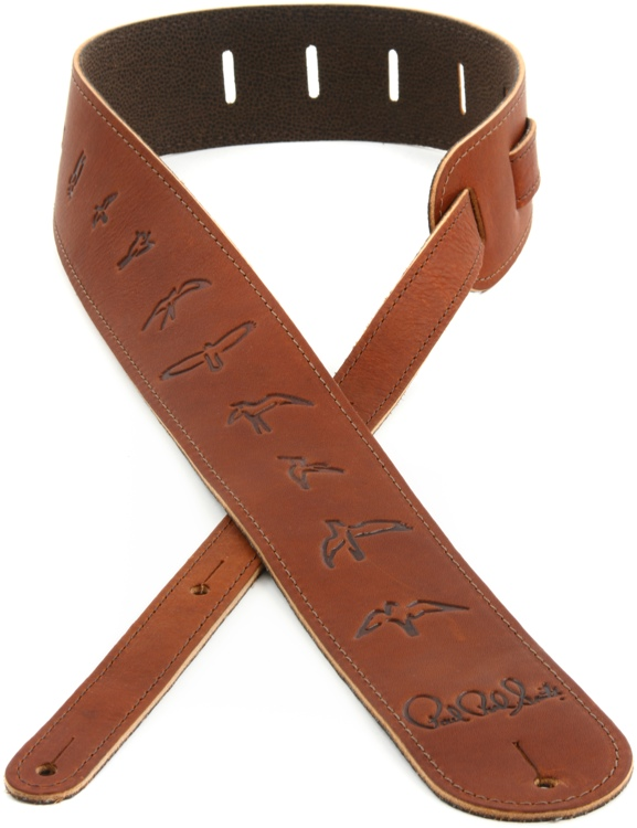 PRS Leather Bird Strap - Brown image 1