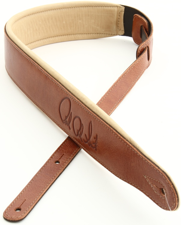 PRS Leather Signature Strap - Cognac and Tan image 1