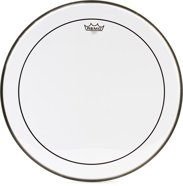 Remo Clear Pinstripe Bass Drum Head - 22
