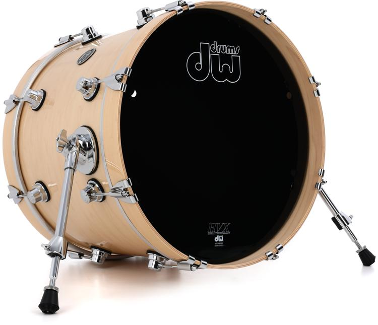 dw performance series bass drum 14 x 18 natural lacquer sweetwater. Black Bedroom Furniture Sets. Home Design Ideas