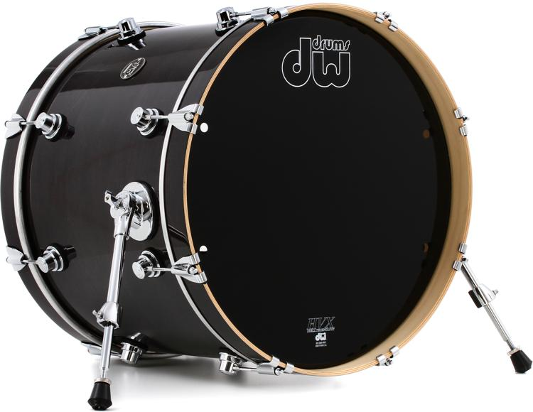 DW Performance Series Bass Drum  - 16x20 - Ebony Stain Laquer image 1