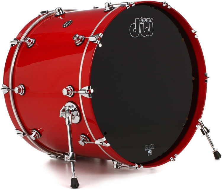 DW Performance Series Bass Drum  - 18x22 - Candy Apple Lacquer image 1