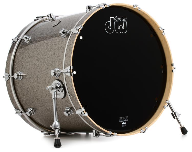 DW Performance Series Bass Drum 18x22 - Titanium Sparkle Finish Ply image 1