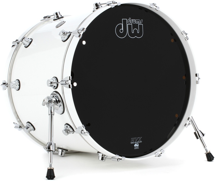 DW Performance Series Bass Drum - 18x22 - White Ice Lacquer image 1