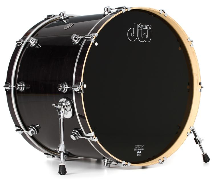 DW Performance Series Bass Drum - 18x24 - Ebony Stain Lacquer image 1