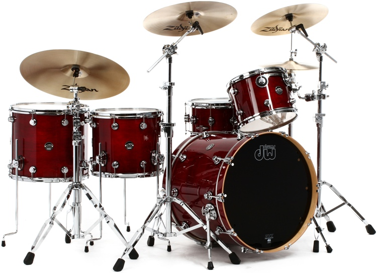 DW Performance Series 5-piece Rock Shell Pack with Snare Drum - 22