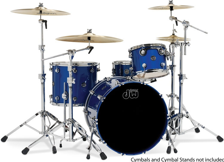 DW Performance Series 4-piece Shell Pack - Sapphire Blue image 1
