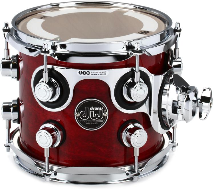 DW Performance Series Mounted Tom 7x8 - Cherry Stain Lacquer image 1
