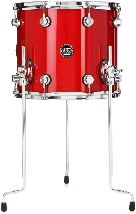 DW Performance Series Floor Tom  - 12x14 - Candy Apple Lacquer image 1