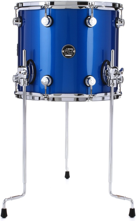 DW Performance Series Floor Tom  - 12x14 - Saphire Blue Lacquer image 1