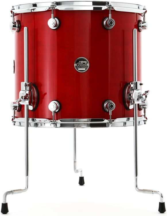 DW Performance Series Floor Tom  - 14x16 - Candy Apple Lacquer image 1