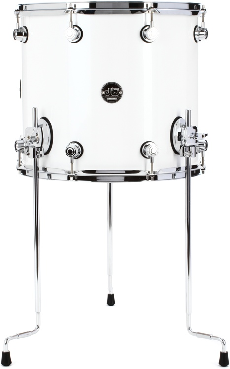 DW Performance Series Floor Tom - 14x16 - White Ice Lacquer image 1