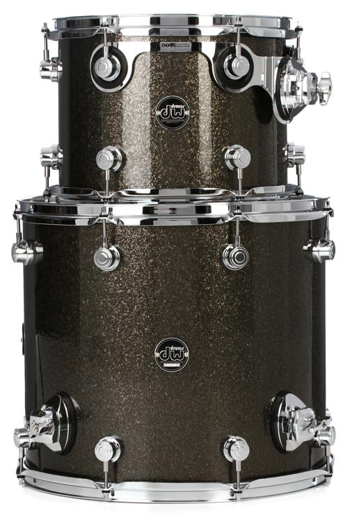 DW Performance Series 2-Piece Tom Pack - Pewter Sparkle Finish Ply image 1