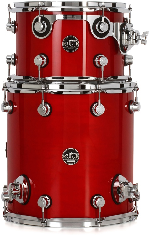 DW Performance Series 2-piece Bop Tom Pack - Candy Apple Lacquer image 1