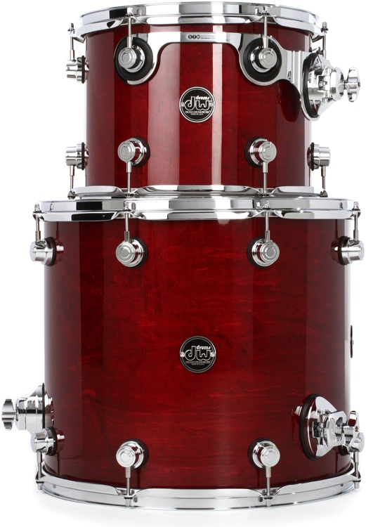 DW Performance Series 2-Piece Tom Pack - Cherry Stain Lacquer image 1