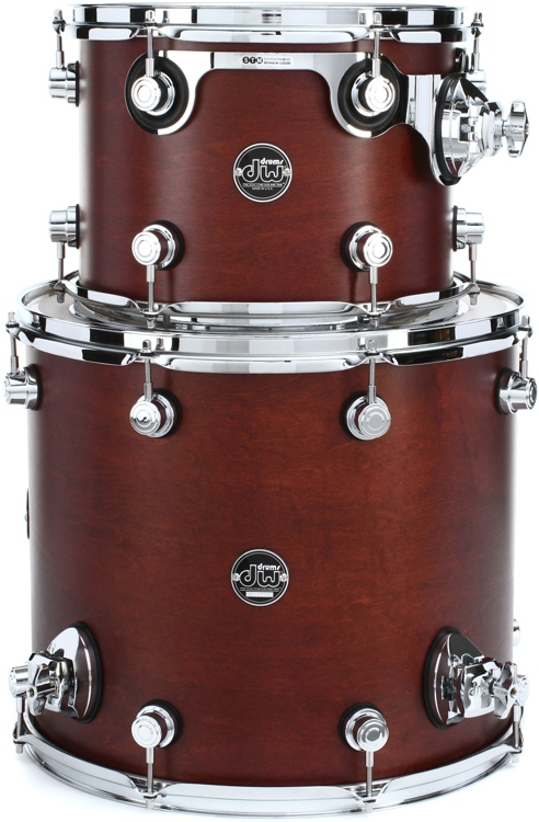 DW Performance Series 2-Piece Tom Pack - Tobacco Satin Oil image 1