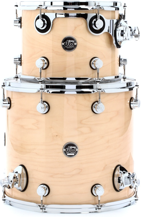 DW Performance Series 2-Piece Tom Pack - Natural Lacquer image 1