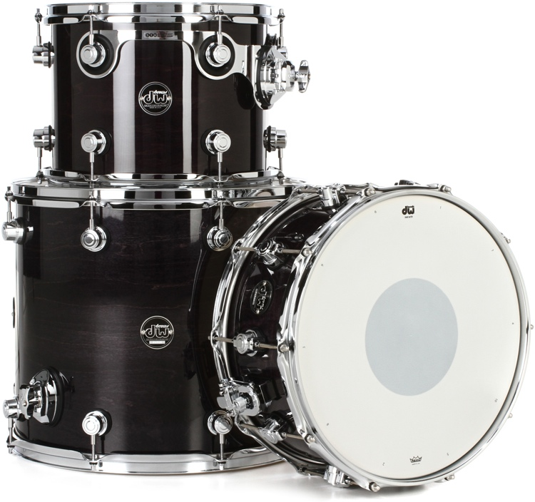 DW Performance Series 3-piece Tom/Snare Pack  - Ebony Stain Lacquer image 1