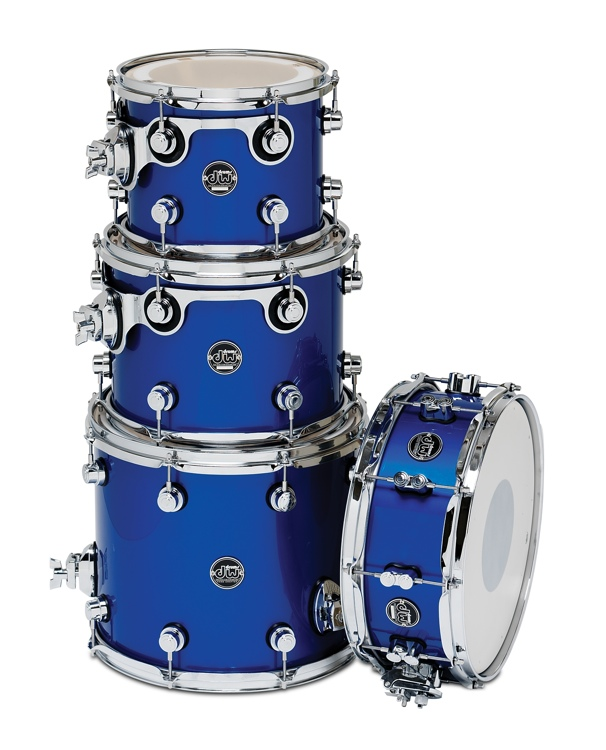 DW Performance Series 4-piece Tom/Snare Pack - Sapphire Blue 4-piece image 1
