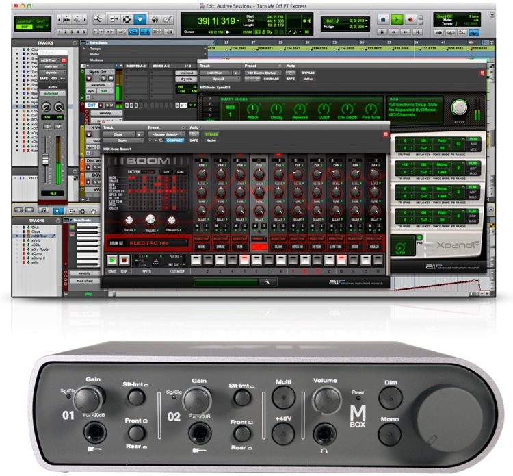 Avid Mbox with Pro Tools Express image 1