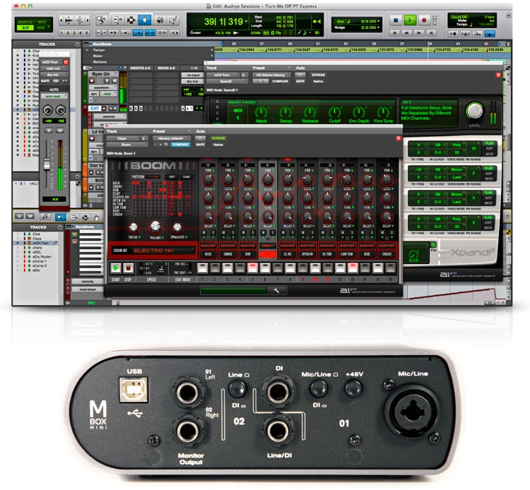 Avid Mbox Mini with Pro Tools Express - Academic Version image 1