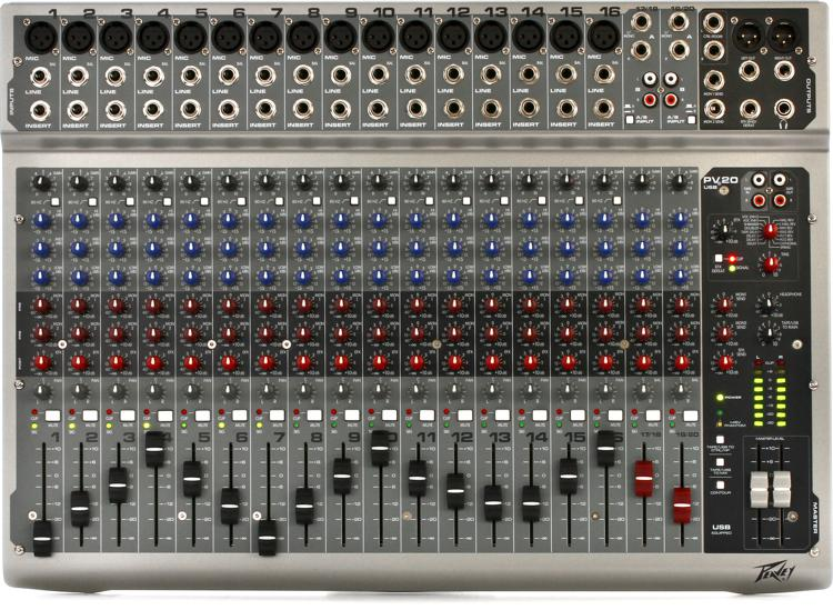 Peavey PV 20 USB Mixer with USB and Effects | Sweetwater