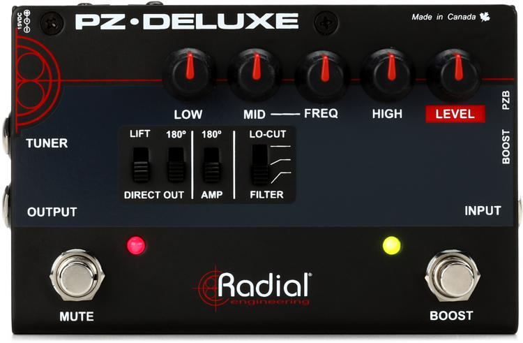Radial Tonebone PZ-Deluxe 1-channel Preamp and DI for Acoustic Guitar image 1