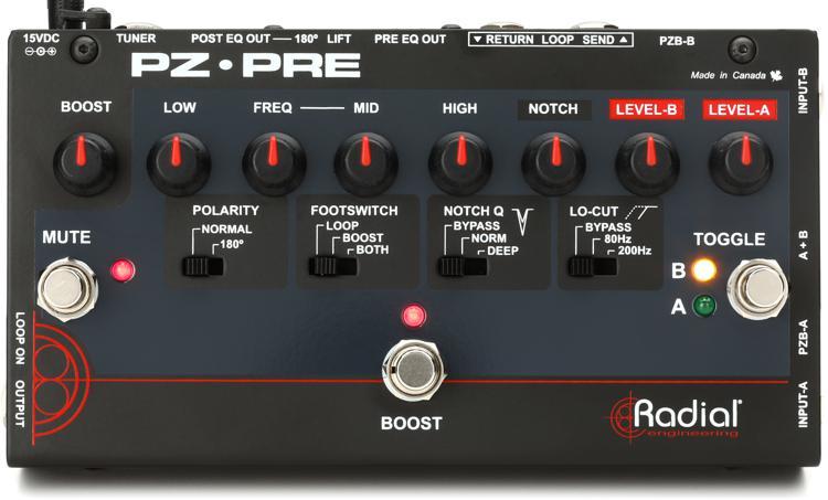 Radial Tonebone PZ-Pre 2-channel Acoustic Instrument Preamp image 1