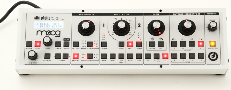 Moog Slim Phatty - Limited Edition White-on-White image 1