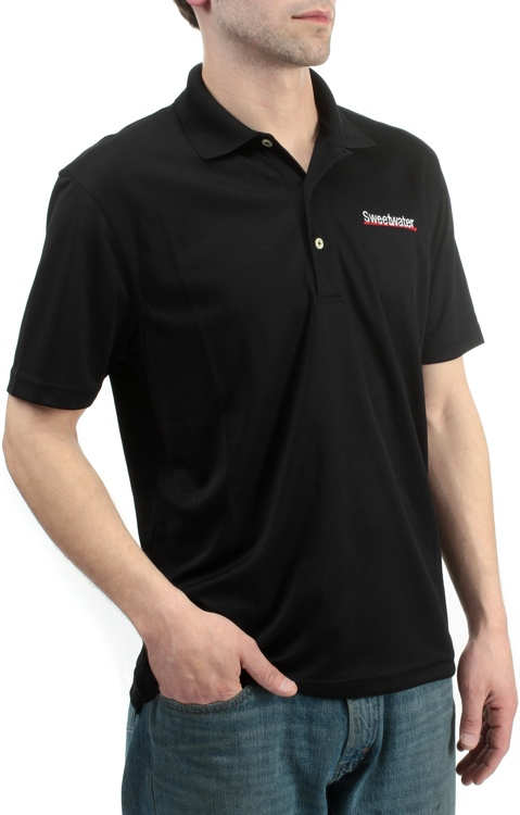Sweetwater Sport Mesh Polo Shirt - Black, Large image 1