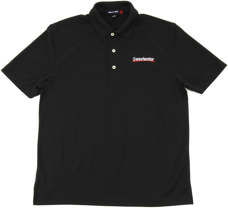 Sweetwater Sport Mesh Polo Shirt - Black, Small image 1