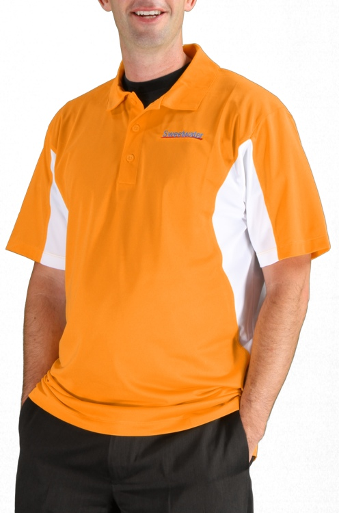 Sweetwater Side Blocked Sport Polo - Gold, X-Large image 1