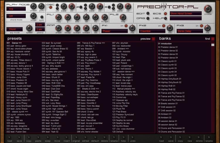 Rob Papen Predator-PL Analog-style Virtual Synthesizer image 1