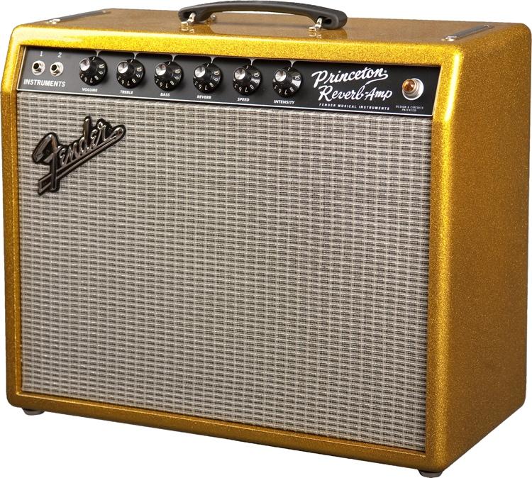 Fender \'65 Princeton Reverb - FSR - Sparkle Gold image 1