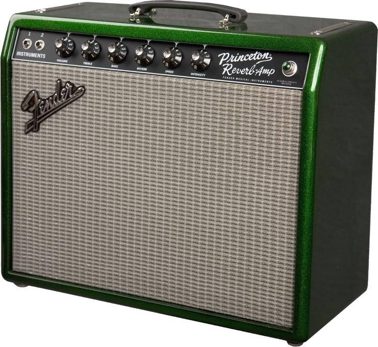 Fender \'65 Princeton Reverb - FSR - Sparkle Green image 1