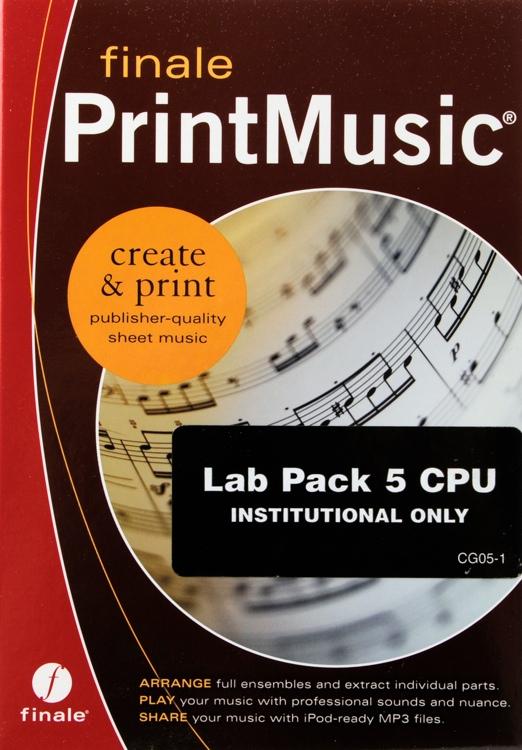 MakeMusic Finale PrintMusic 2011 Lab 5-pack image 1