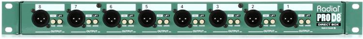 Radial ProD8 8-channel Passive Instrument Direct Box image 1