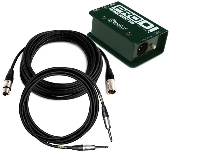 Radial ProDI Direct Box Package w/Mogami CorePlus Cables image 1