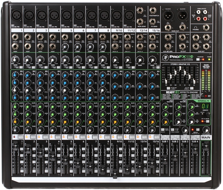 Mackie Profx16v2 Mixer With Usb And Effects Sweetwater