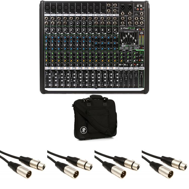 Mackie ProFX16v2 16-channel Mixer with Case and Cables image 1